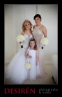 03 bridesmaid flower girl and bride photo